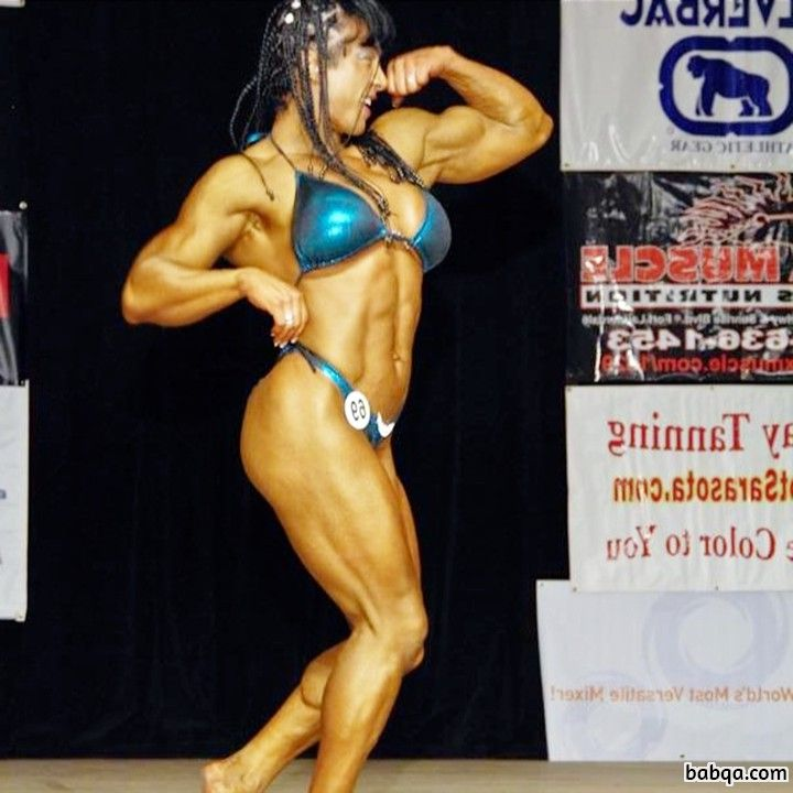hot female with muscular body and toned arms image from g+