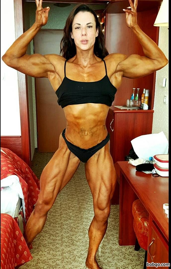 hottest female with muscular body and muscle booty photo from reddit