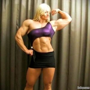 hot female with fitness body and toned biceps repost from facebook