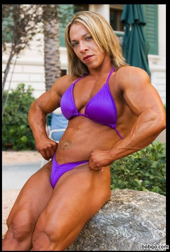 cute female bodybuilder with strong body and toned bottom photo from g+