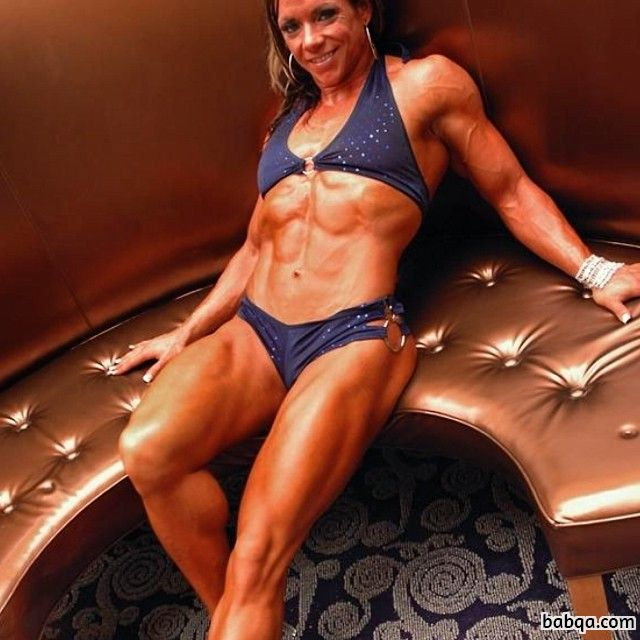 awesome girl with fitness body and muscle biceps photo from flickr