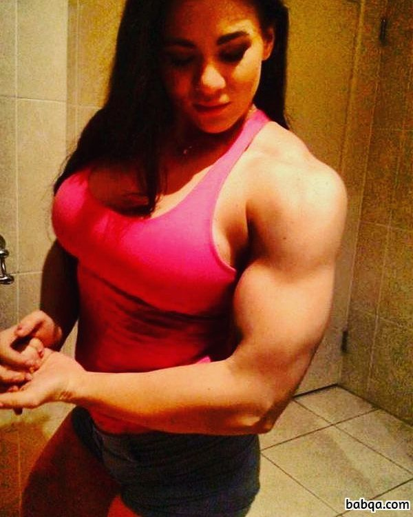 awesome female bodybuilder with muscle body and muscle ass photo from g+