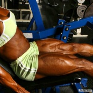 sexy female bodybuilder with muscular body and muscle biceps photo from g+