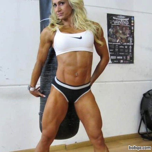 sexy female with muscular body and muscle ass pic from facebook