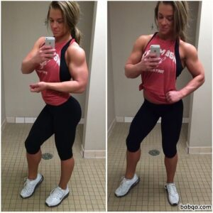 sexy female with strong body and muscle legs post from linkedin