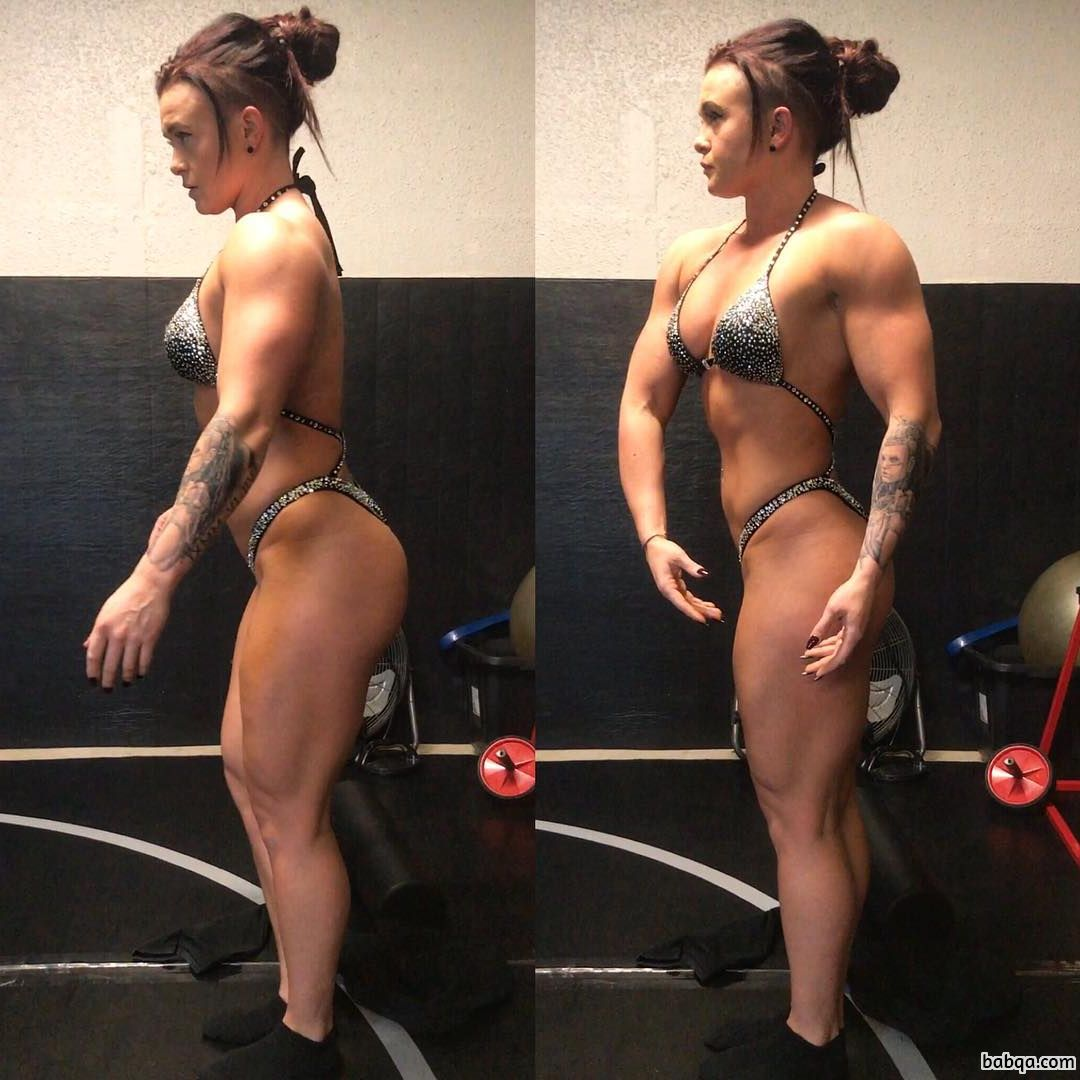 sexy female with muscle body and toned legs repost from tumblr