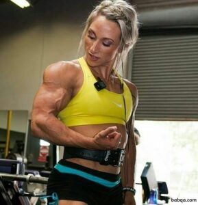 beautiful babe with strong body and toned biceps repost from linkedin