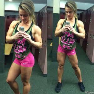 beautiful female bodybuilder with strong body and toned legs pic from g+