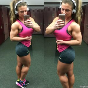 perfect babe with strong body and toned biceps post from tumblr