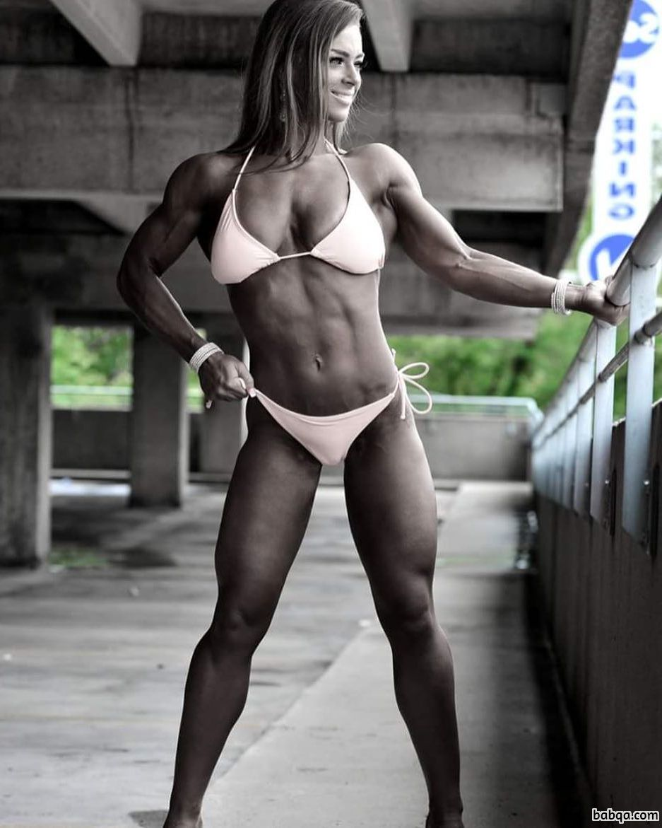 awesome woman with muscle body and toned booty picture from facebook