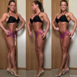 awesome lady with fitness body and muscle arms image from insta