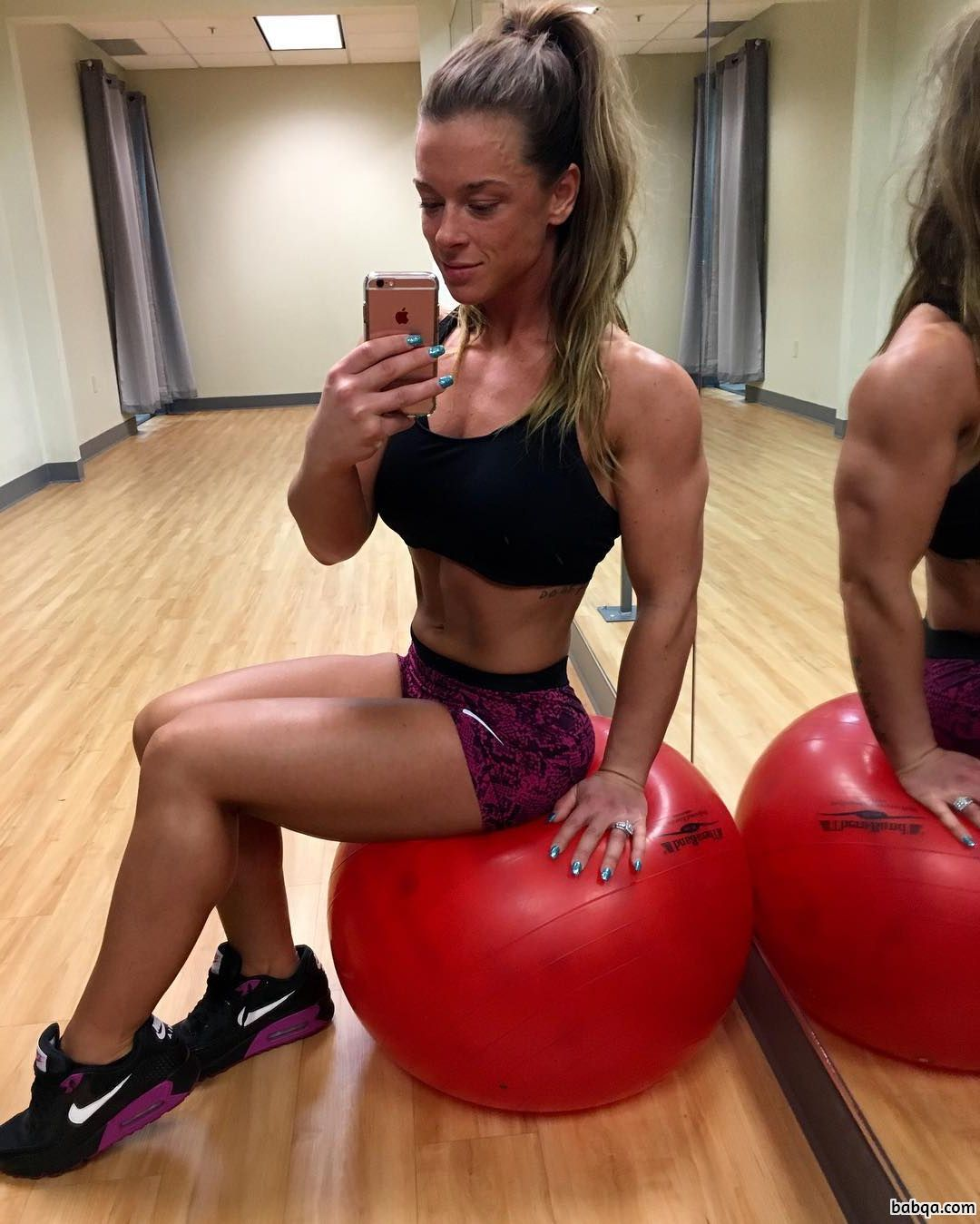 cute girl with strong body and muscle ass post from linkedin