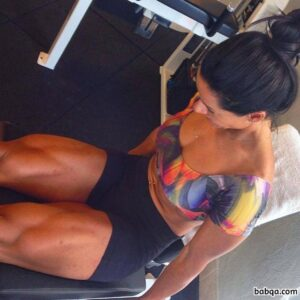 awesome chick with strong body and muscle legs image from linkedin