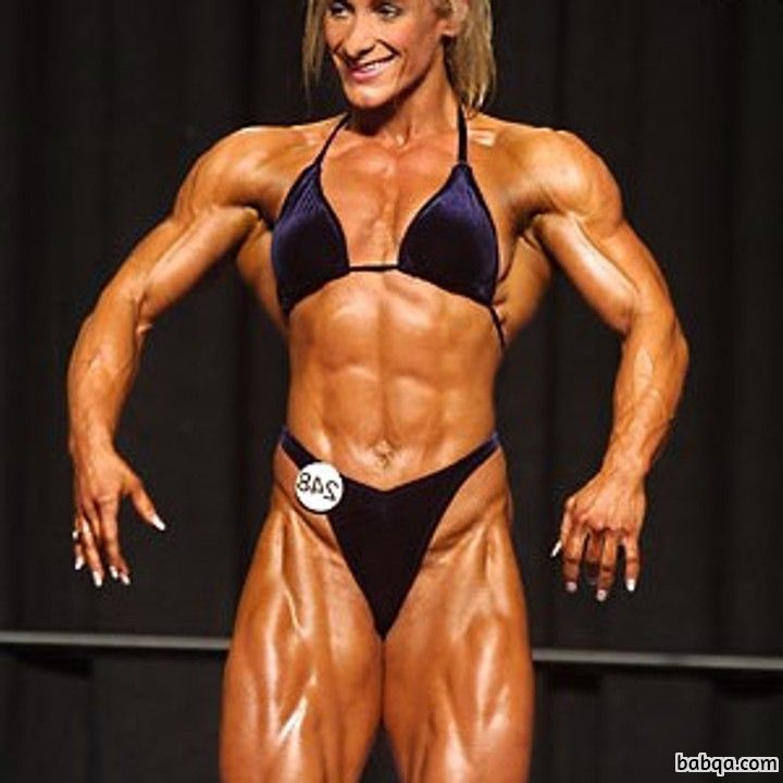 hottest female bodybuilder with muscle body and muscle ass image from facebook