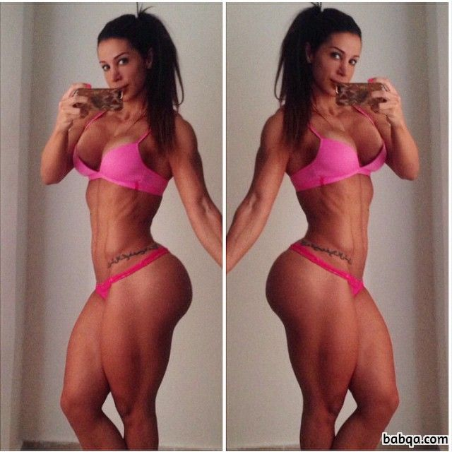 hot chick with muscular body and muscle ass post from g+