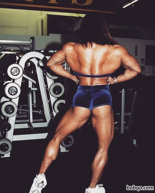 spicy chick with strong body and toned biceps repost from tumblr