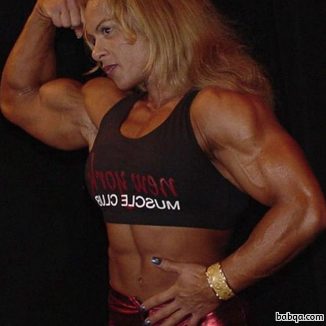 cute female bodybuilder with muscle body and muscle arms photo from tumblr