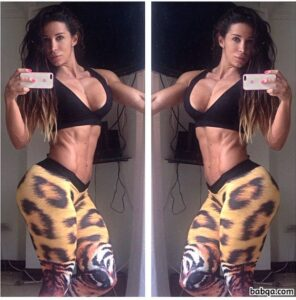 awesome babe with muscle body and muscle bottom post from instagram