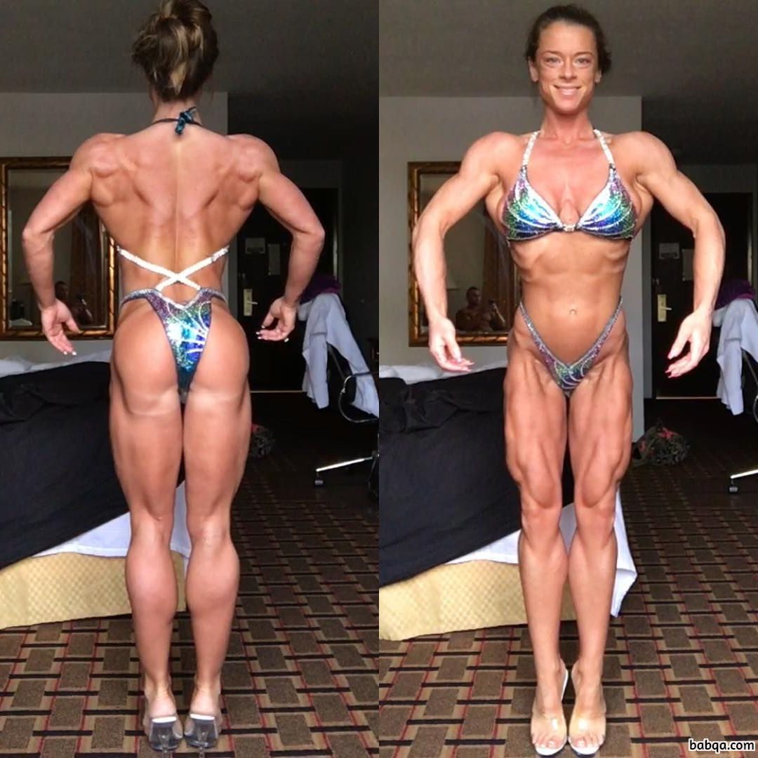 awesome lady with fitness body and muscle arms image from linkedin