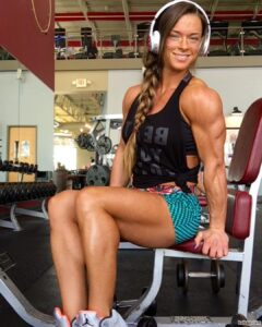 cute girl with fitness body and toned biceps repost from facebook