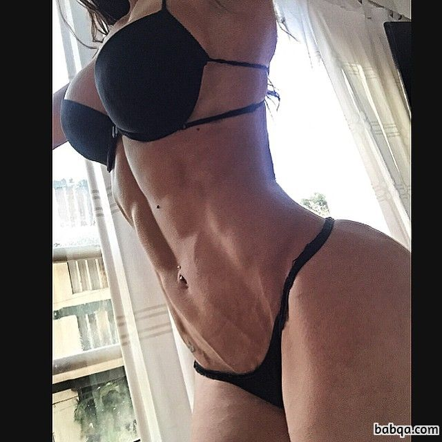 cute chick with strong body and muscle ass image from reddit