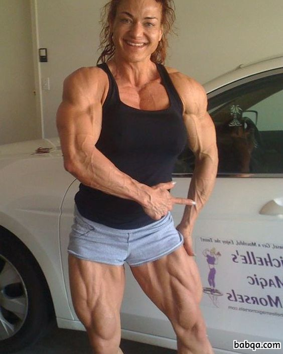 cute girl with muscle body and toned biceps repost from g+