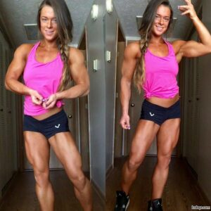 awesome babe with muscle body and muscle legs repost from reddit