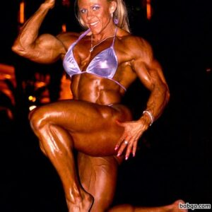 perfect chick with fitness body and muscle biceps photo from facebook