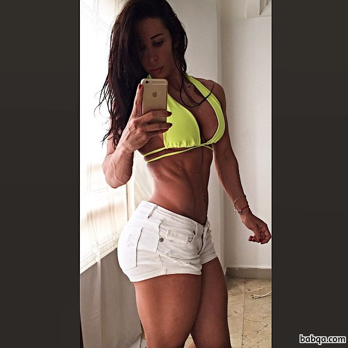 perfect woman with muscle body and toned legs repost from reddit