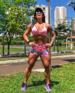 spicy female with muscular body and toned arms photo from reddit