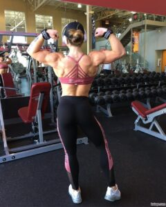 spicy female bodybuilder with muscle body and toned bottom post from tumblr
