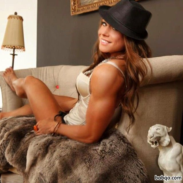 sexy female bodybuilder with strong body and muscle legs repost from facebook