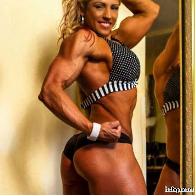 sexy female bodybuilder with muscle body and toned booty repost from flickr
