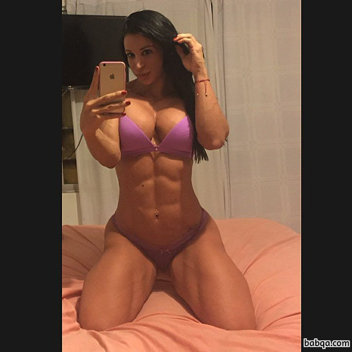 spicy female with fitness body and muscle bottom picture from facebook