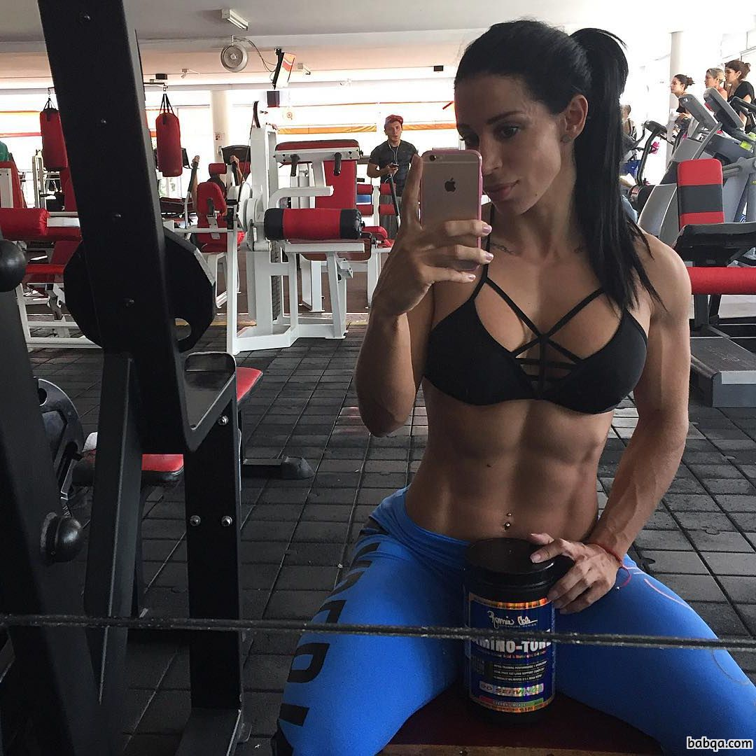 awesome female bodybuilder with fitness body and muscle bottom pic from facebook