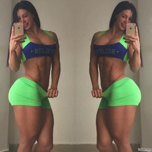 perfect female bodybuilder with muscle body and toned biceps photo from instagram