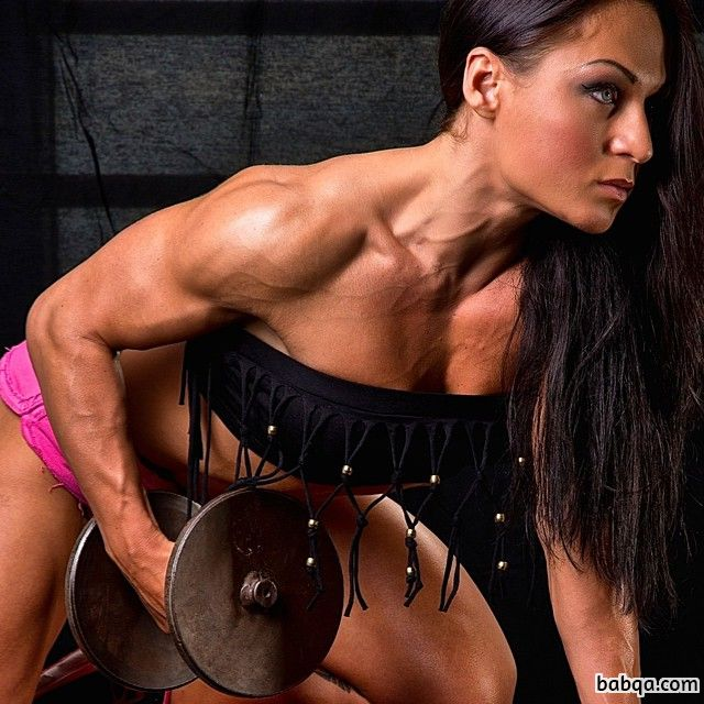beautiful female bodybuilder with muscular body and toned booty pic from linkedin