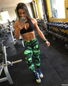 awesome girl with muscular body and muscle legs picture from facebook