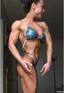 awesome female bodybuilder with strong body and muscle biceps picture from insta