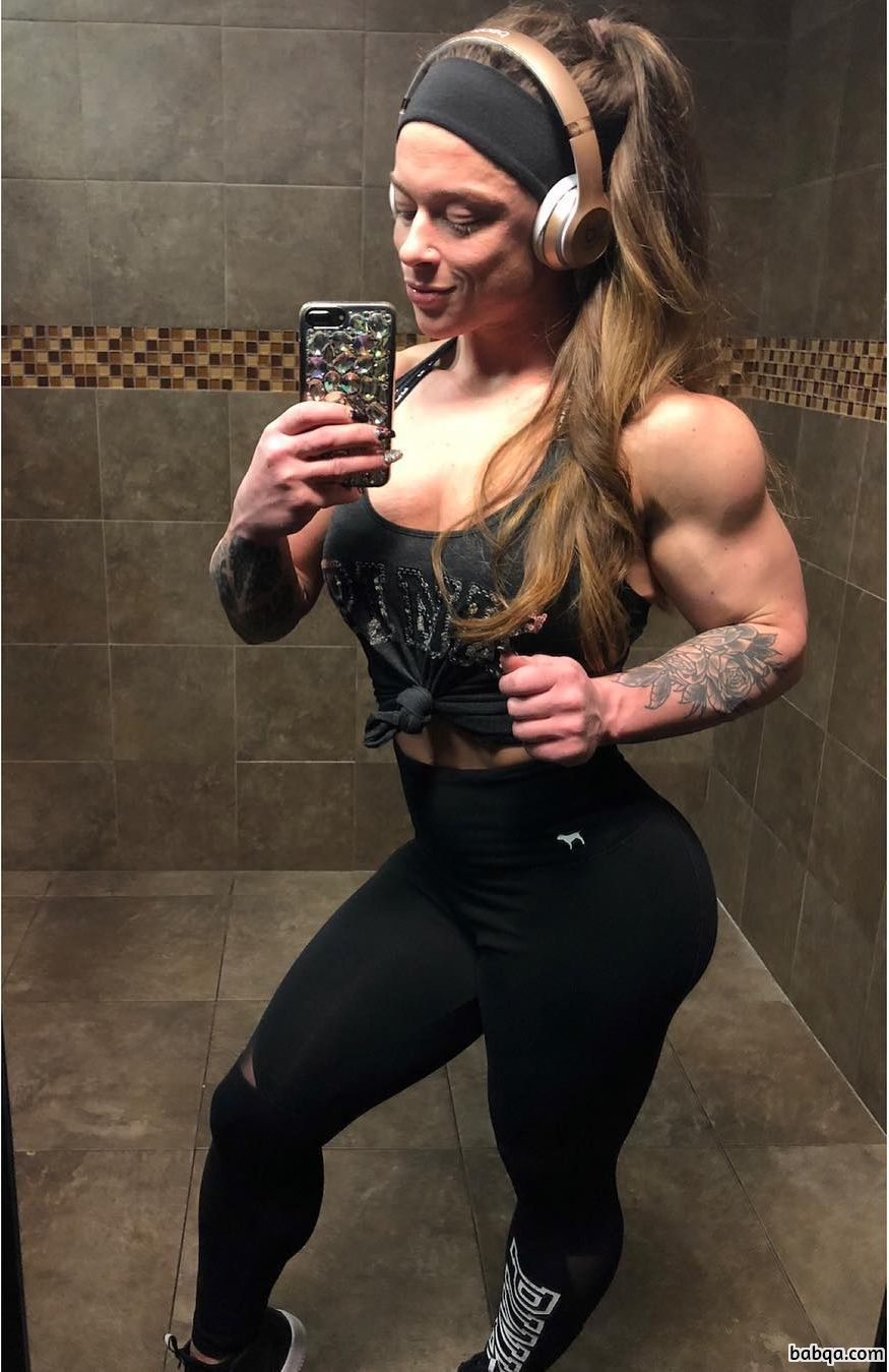 awesome girl with muscle body and toned legs repost from g+