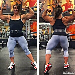 hottest lady with strong body and muscle ass image from reddit