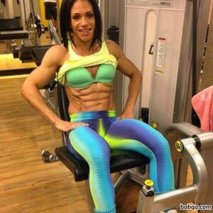 hot girl with muscular body and muscle biceps pic from g+