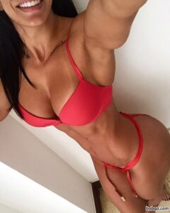 hottest woman with fitness body and muscle bottom repost from insta