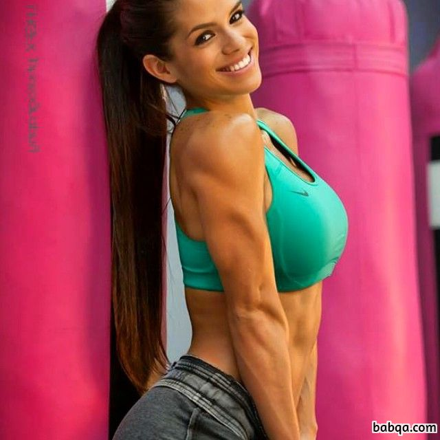 perfect female bodybuilder with fitness body and muscle bottom picture from facebook