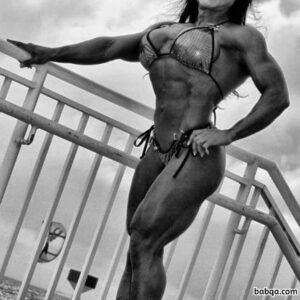hot female with muscle body and muscle biceps repost from insta