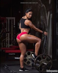 cute chick with fitness body and muscle bottom photo from tumblr