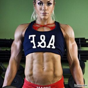 spicy female bodybuilder with muscular body and toned arms pic from tumblr