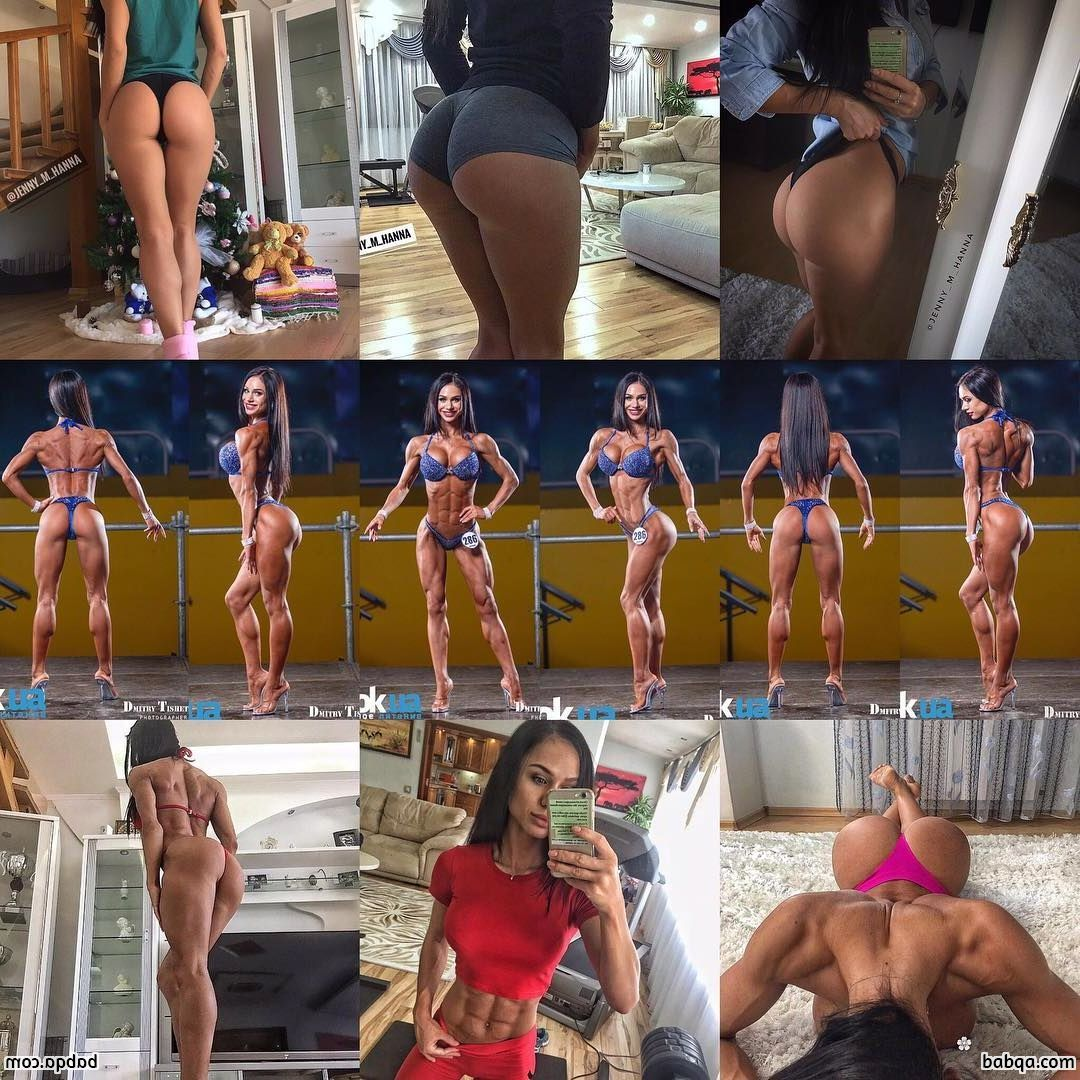 cute female bodybuilder with muscle body and muscle bottom image from g+