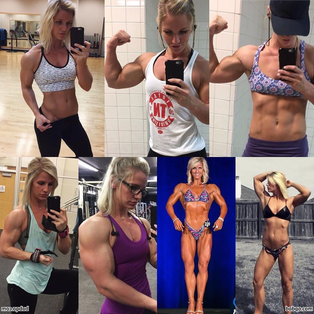 awesome female bodybuilder with fitness body and muscle ass picture from reddit