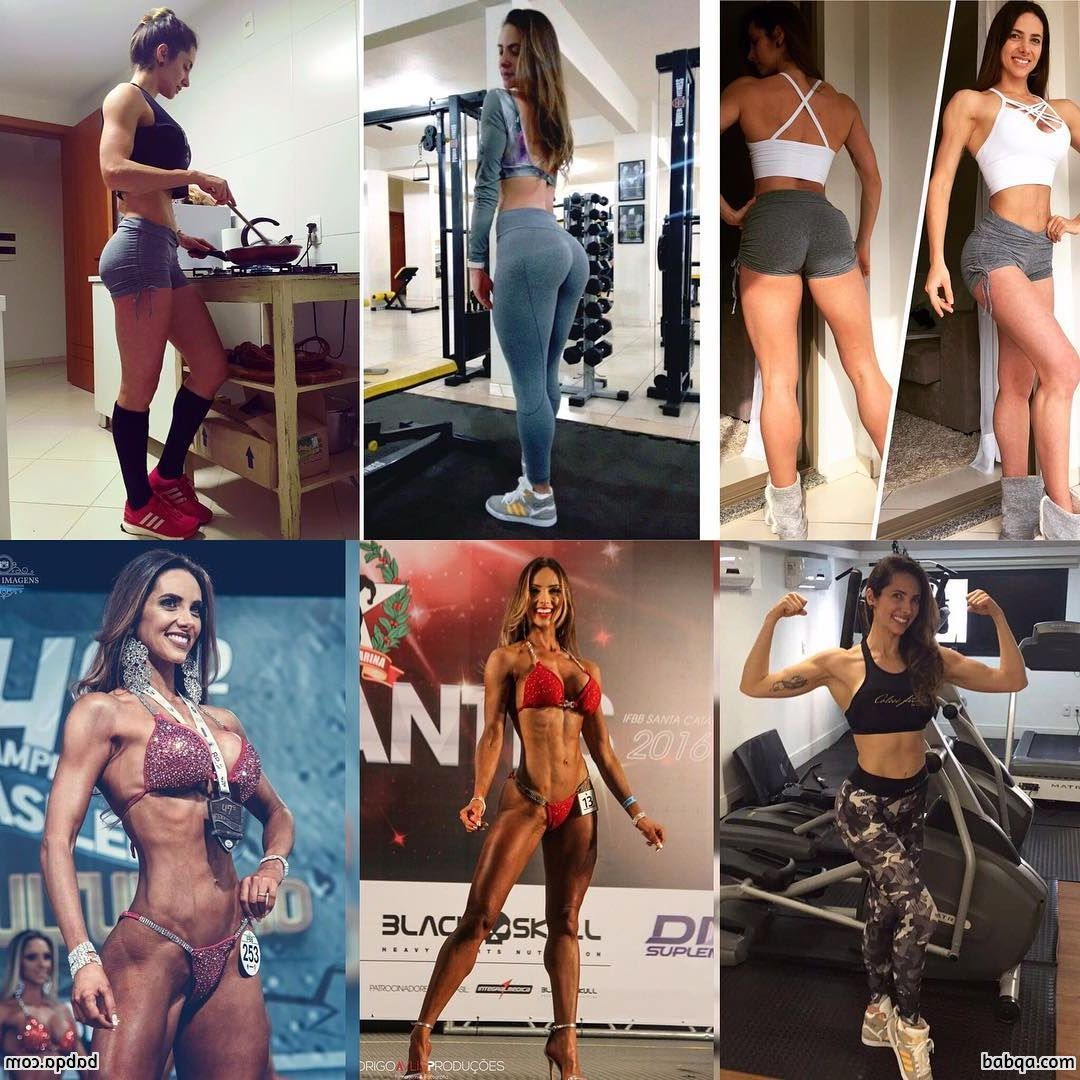 awesome female bodybuilder with strong body and toned bottom post from reddit